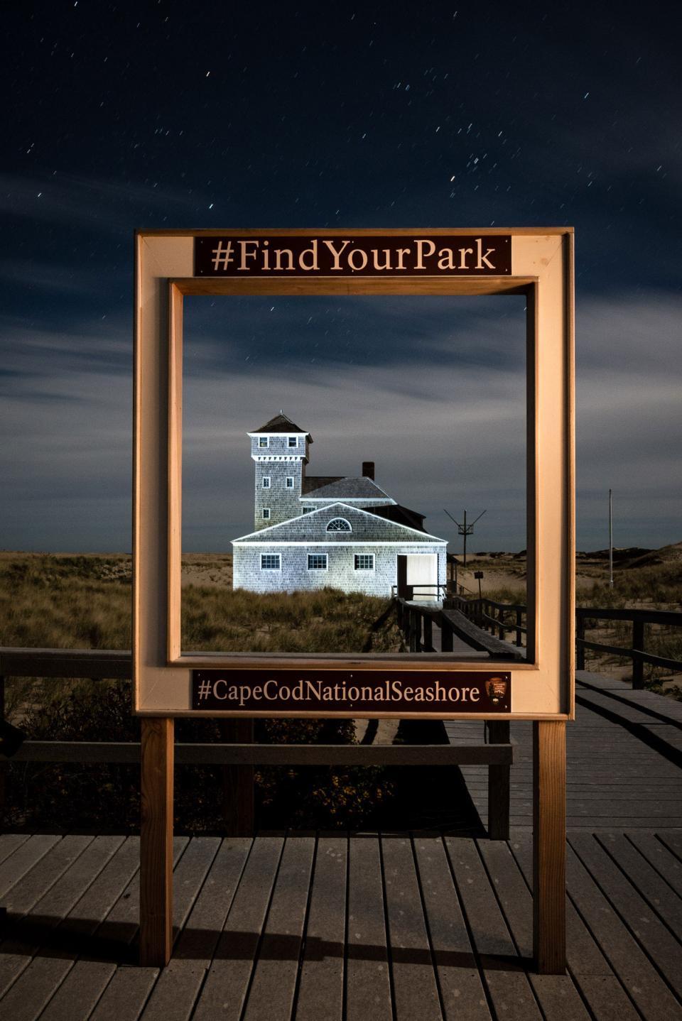 Framing up a shot for a hashtag, Cape Cod National Seashore, Massachusetts.