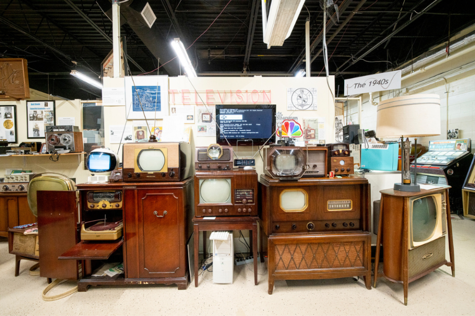 A selection of some of the earliest TVs are on display at the museum.