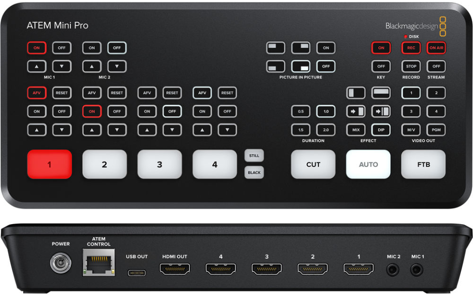 Blackmagic Announces Atem Mini Pro Switcher B H Explora