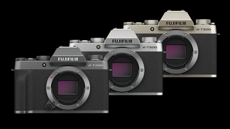 FUJIFILM X-T200 Mirrorless Digital Camera (Dark Silver, Silver, Champagne Gold)