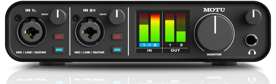 MOTU M2 USB-C Audio Interface for Recording, Mixing, and Podcasting