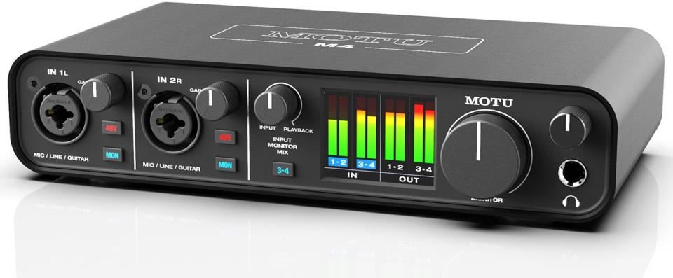 MOTU M4 USB Type-C Audio Interface for Recording, Mixing, and Podcasting