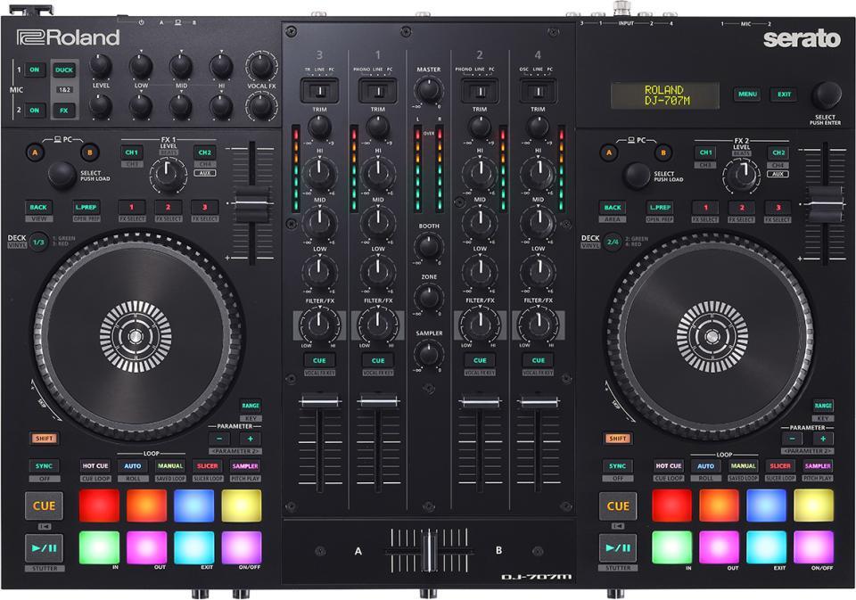 Unveiled: The Roland DJ-707M 4-Channel, 4-Deck DJ Controller