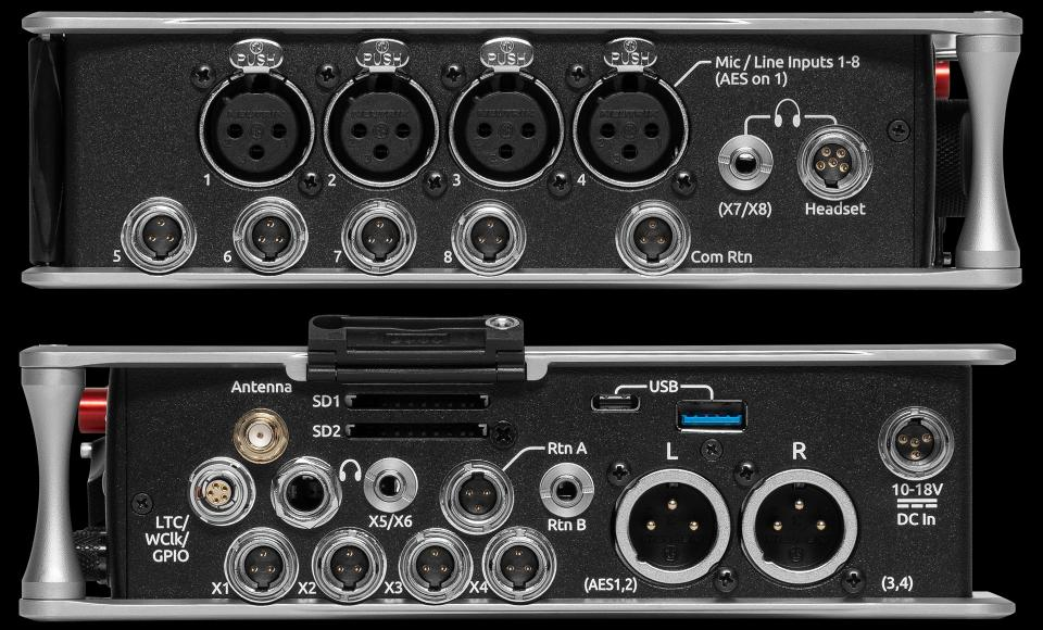 Sound Devices 833; Left and Right side