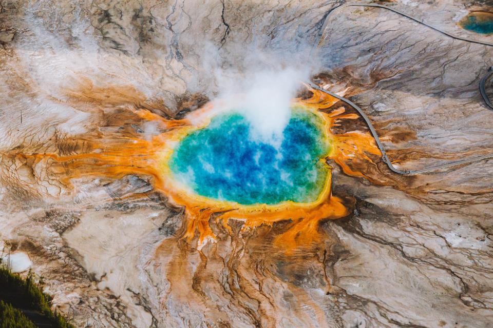 Yellowstone Aerial Photo