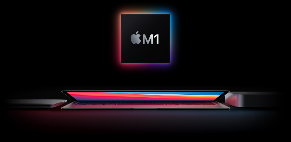 Small chip. Giant leap. Introducing the new MacBook Air, 13‑inch MacBook Pro, and Mac mini, all with the Apple M1 chip.