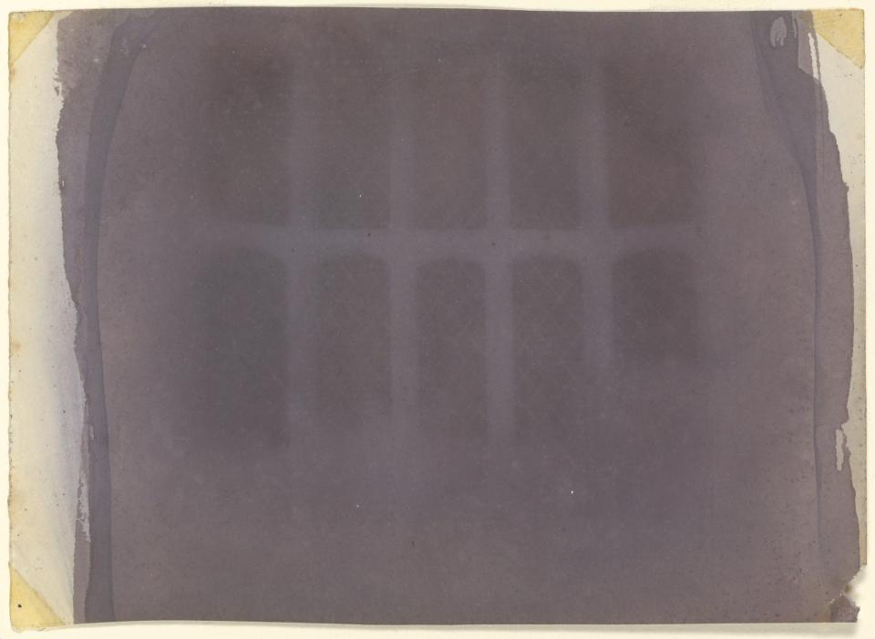 William Henry Fox Talbot, The Oriel Window, South Gallery, Lacock Abbey, paper negative, c. 1835