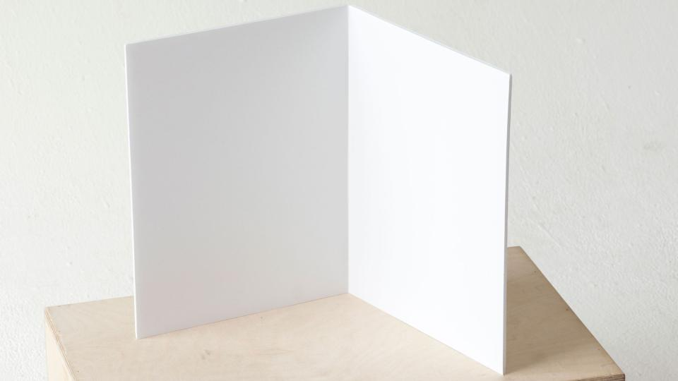 Figure 3: Foam core or even rigid cardboard can be used to make a v-flat for macro usage.