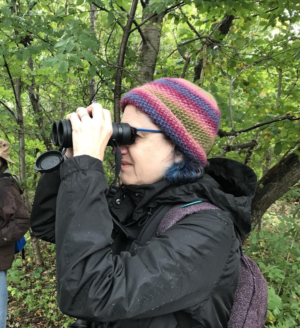 The intrepid birder