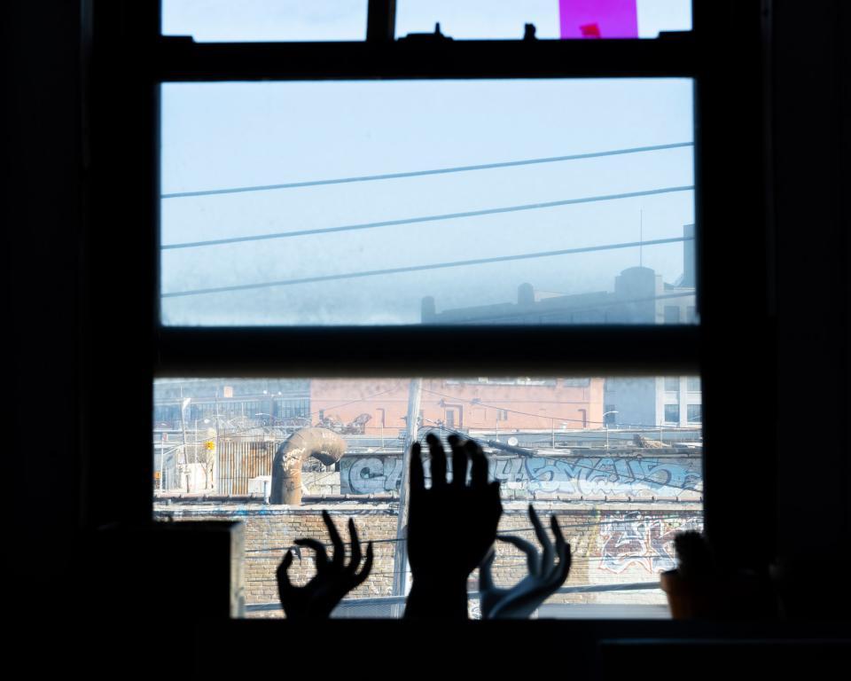 Figure 9: The view from Costa's Bushwick studio.