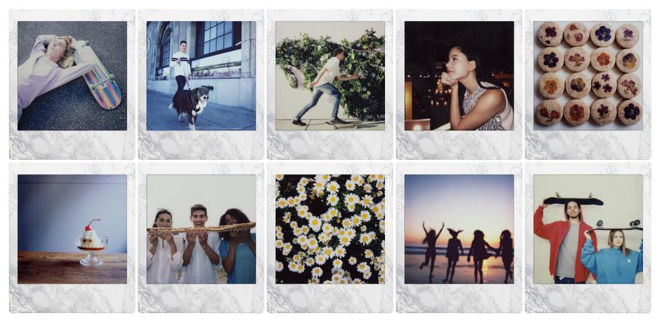 INSTAX SQUARE White Marble Instant Film