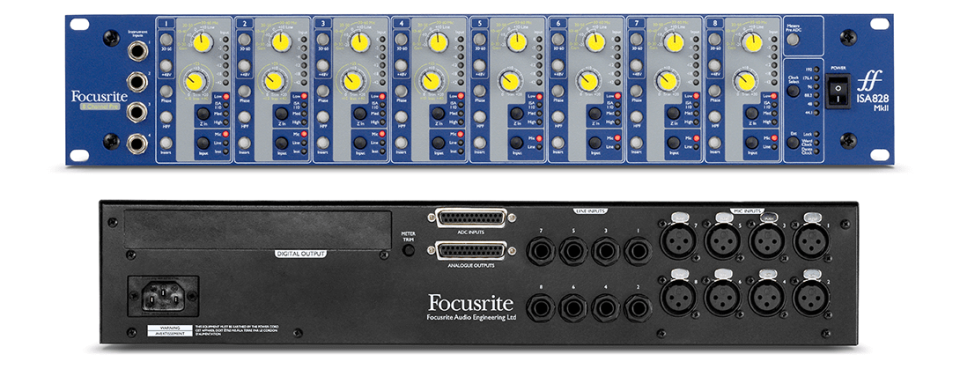 Focusrite ISA 828 MkII 8-Channel Preamp for Mic, Line-Level & Hi-Z Instruments