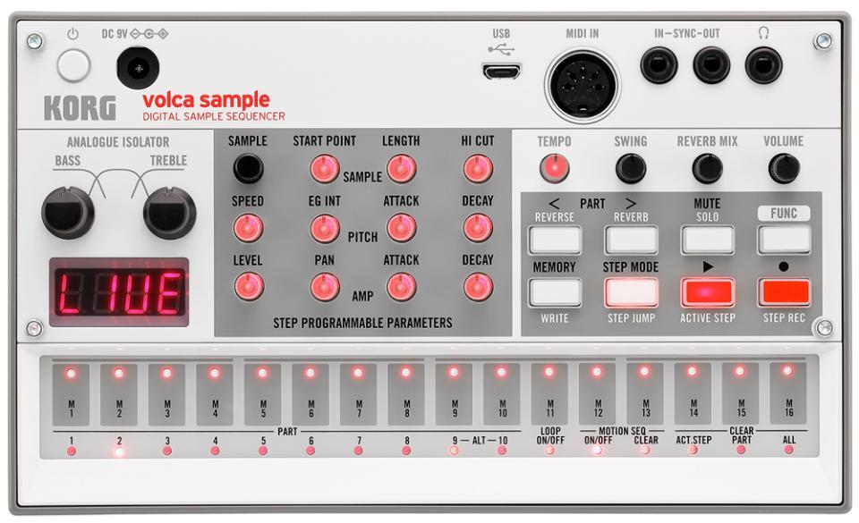 Korg Volca Sample 2 Digital Sample Sequencer