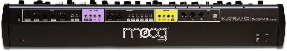 Moog Matriarch, rear