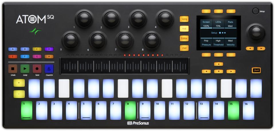 PreSonus ATOM SQ Hybrid MIDI Keyboard/Pad Performance and Production Controller