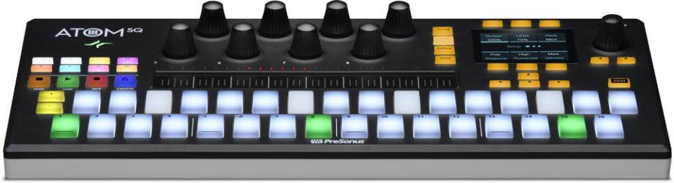 The PreSonus ATOM SQ is a versatile hybrid MIDI keyboard/pad performance and production controller that's ideal for creating hip-hop, EDM, or any other style of music.