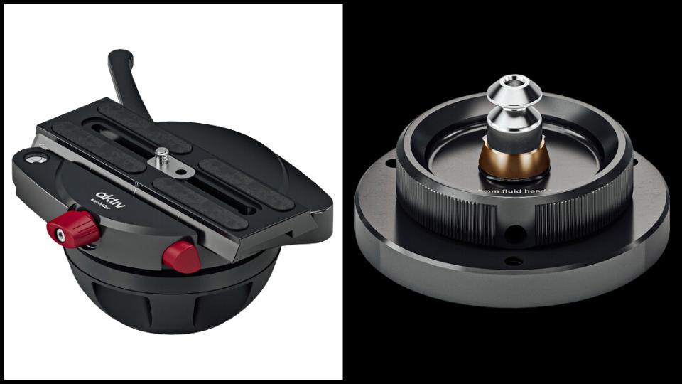 Sachtler aktiv Slider to 100mm Tripod Adapter and Sachtler Adapter for Pedestal C I/C III with aktiv 75mm Head