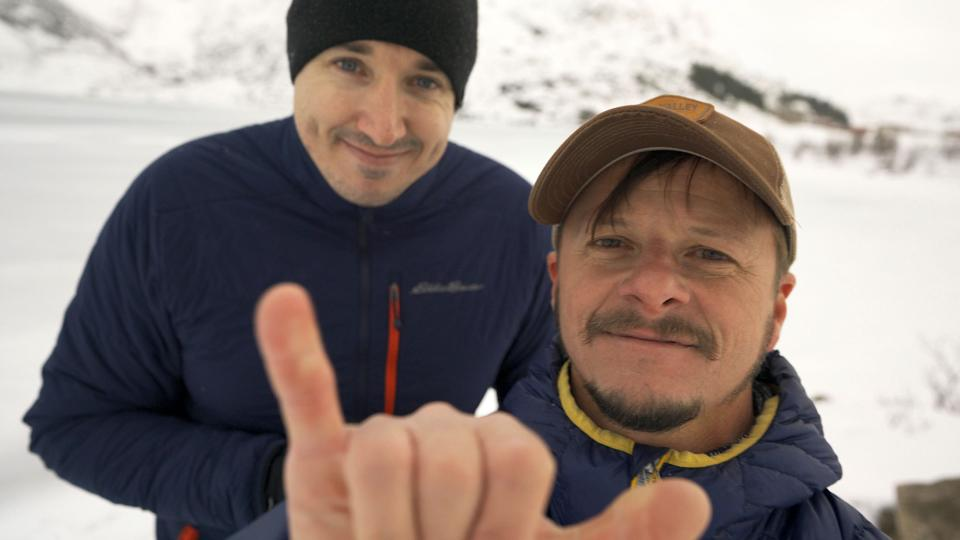 Colby Brown and Stan Moniz checking in from the Arctic Circle.