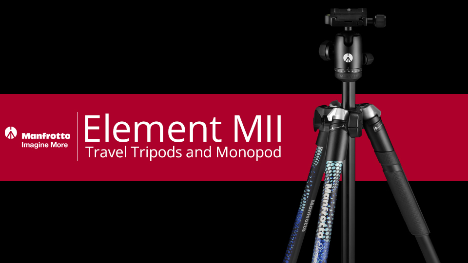 Manfrotto Releases Element MII Travel Tripods and Monopod