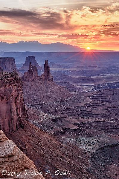 Sunrise, Canyonlands National Park, UT ©Jason Odell