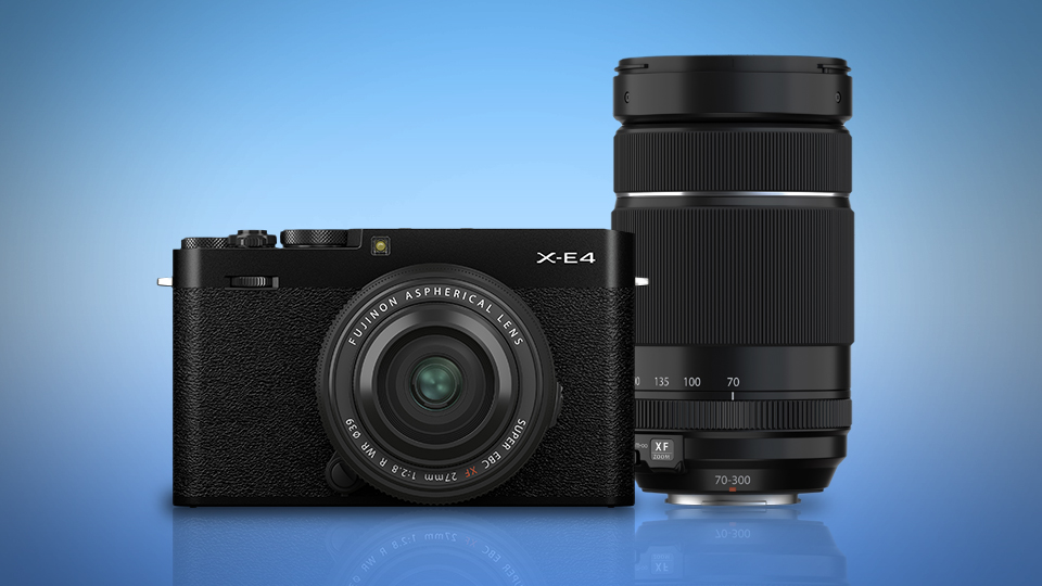 FUJIFILM X-E4 with the XF 27mm f/2.8 R WR Lens, and the XF 70-300mm f/4-5.6 R LM OIS WR Lens