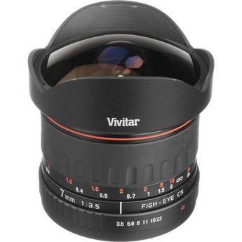 Vivitar 7mm f/3.5 Fisheye Lens