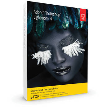 Adobe Photoshop Lightroom 4 Software For Mac And Windows (Student And Teacher Edition)