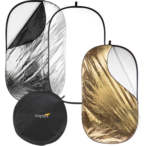 "Impact 5-in-1 Collapsible Oval Reflector - 42x72"" (1x1.8 m)"