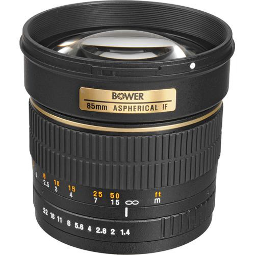 Bower 85mm f/1.4 Manual Focus Telephoto Lens for Sony